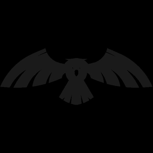 Bird spread wings
