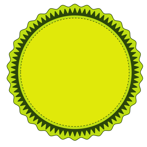 Lime green sticker
