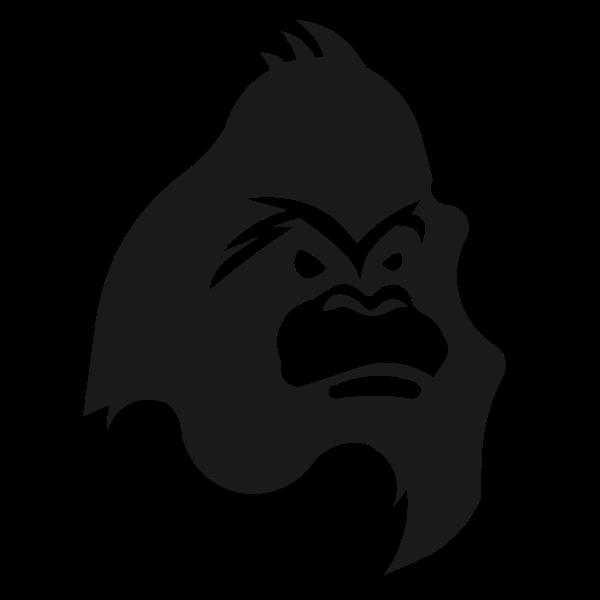 Monster gorilla silhouette