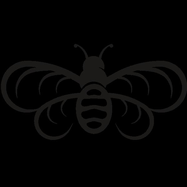 Cute bee silhouette