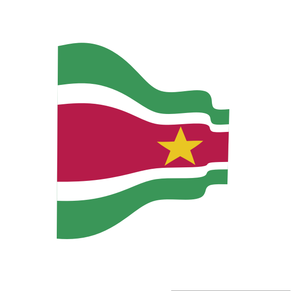 Waving flag of Suriname