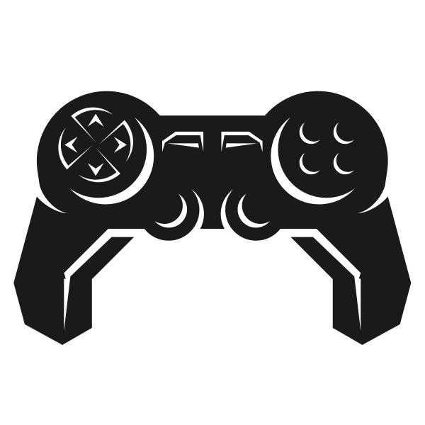 Silhouette of game controller