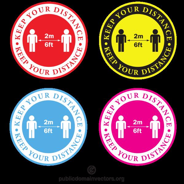 Coronavirus social distance sign