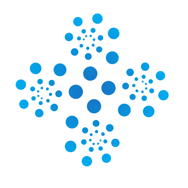 Abstract Logotype Collection: Blue Dots Abstract Shape