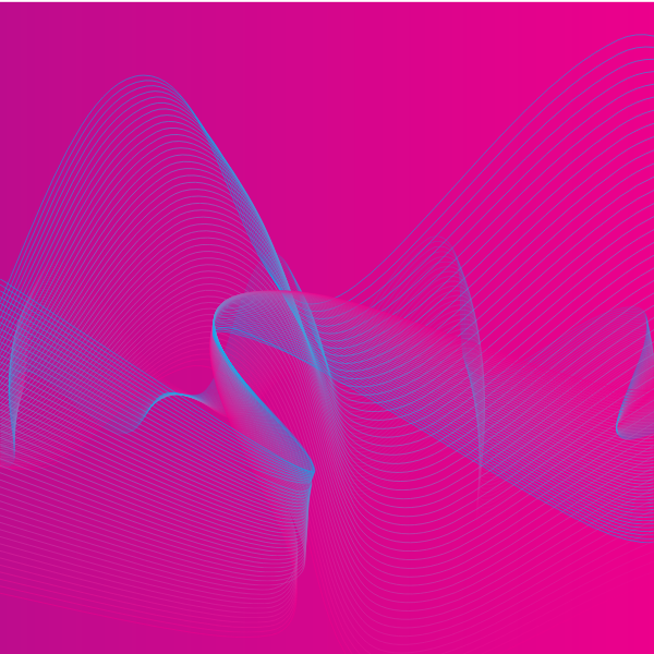 Pink background with flowing lines
