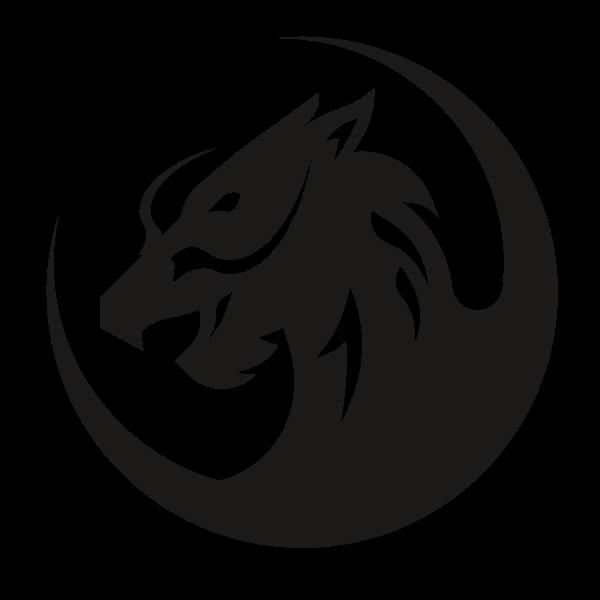 Dragon monster silhouette clip art