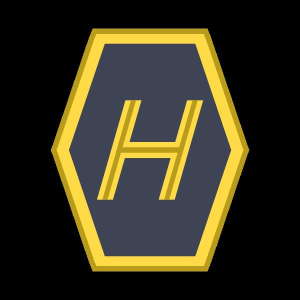 Högertrafikens skylt med H som lutar