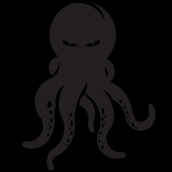 Octopus silhouette clip art graphics