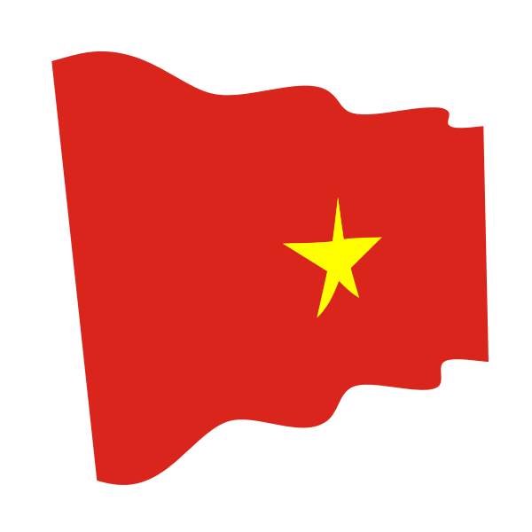 Vietnam waving flag clip art   Free SVG