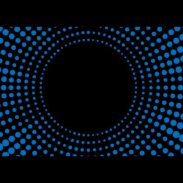 Halftone pattern blue dots