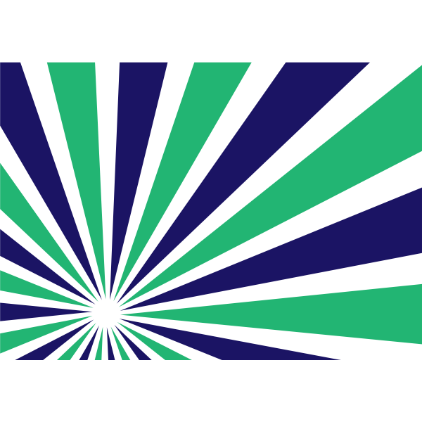 Radial beams green and blue color