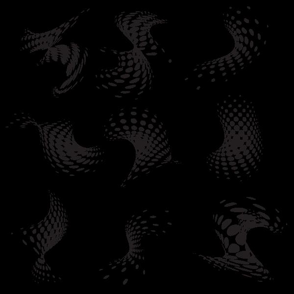 Halftone pattern shapes