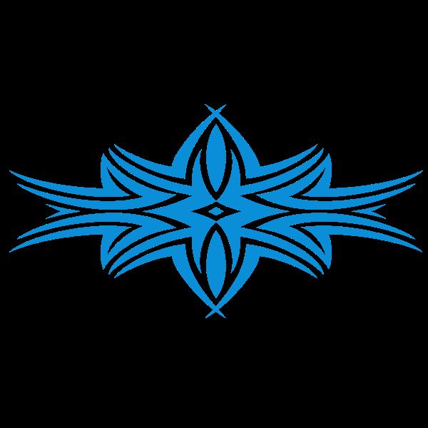 Tribal design shape in blue color