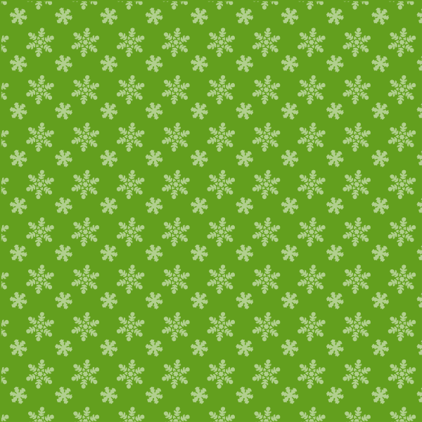 Green background snowflakes pattern