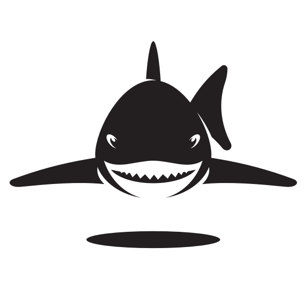 Silhouette of a dangerous shark