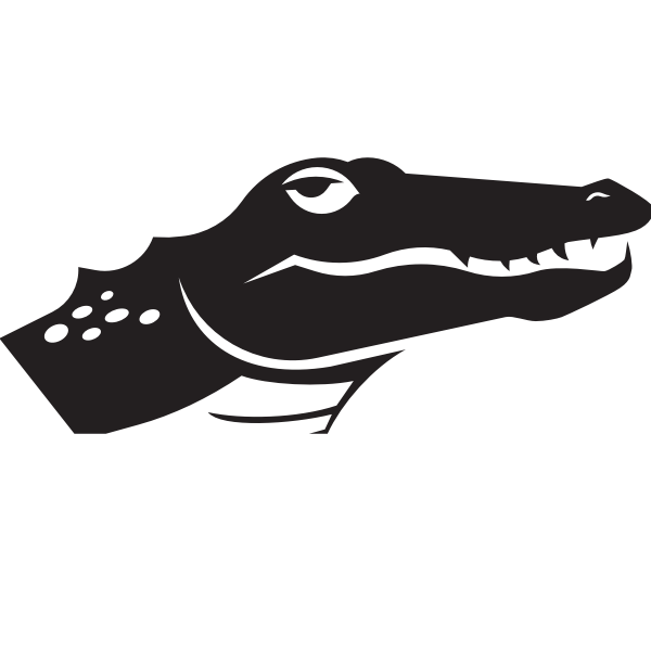 Alligator head silhouette