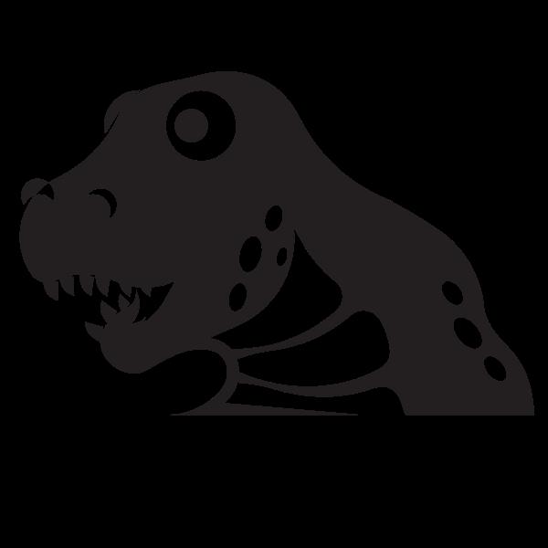 Tyrannosaurus head silhouette