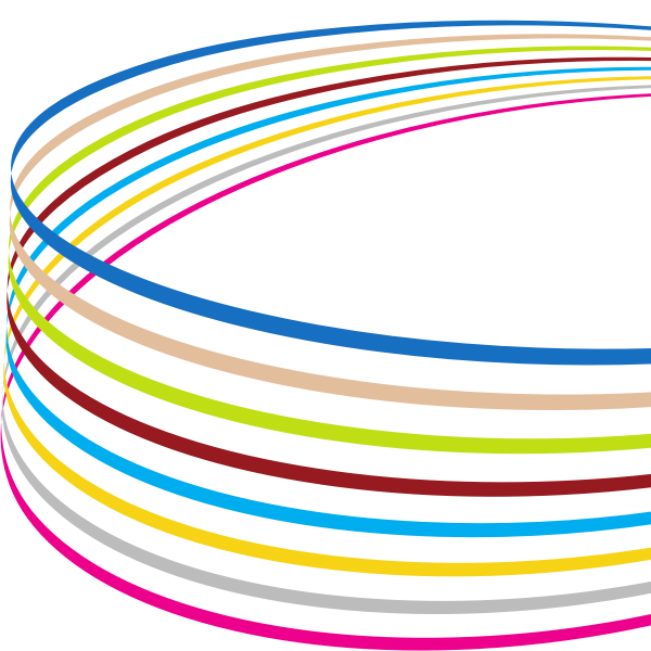 Curved colored lines