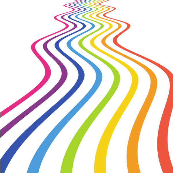 Flowing colored lines