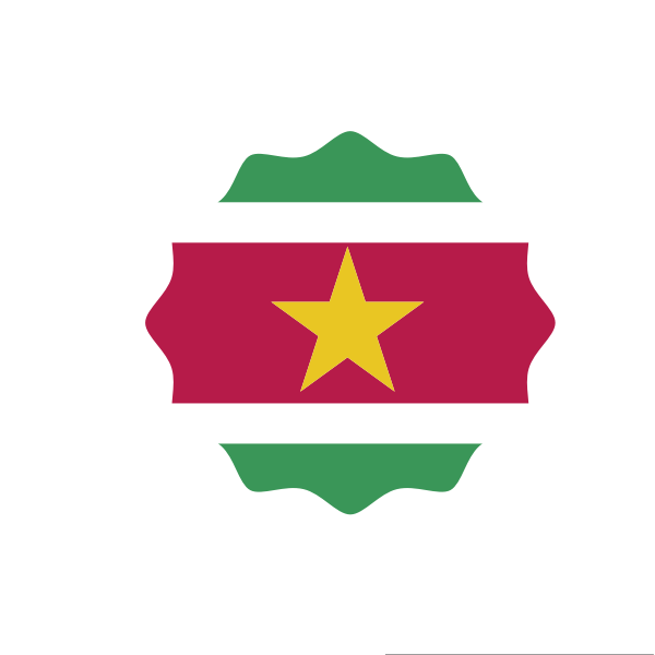Suriname flag symbol