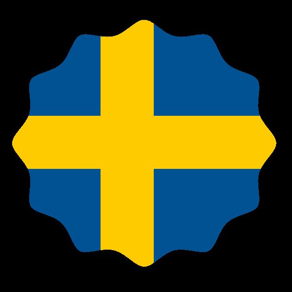 Swedish flag symbol