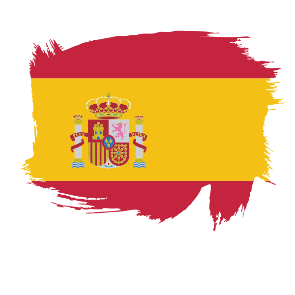 Spanish flag brush stroke