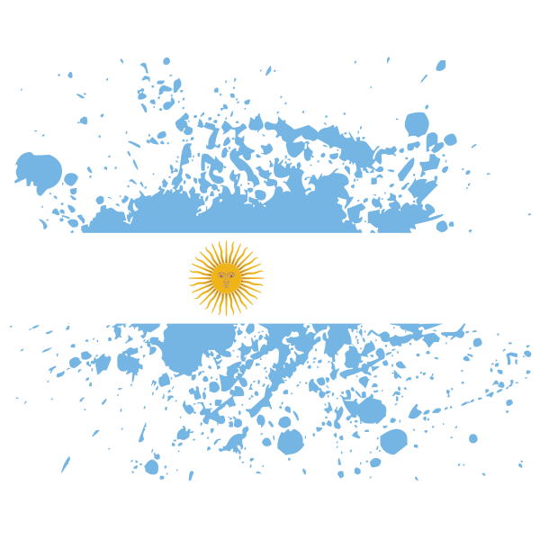Argentina flag paint splatter