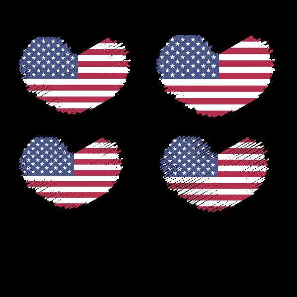American flag patriotic symbols