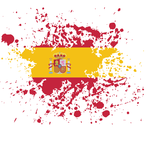 Spanish flag ink splatter