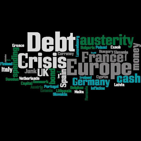 Debt crisis Europe word cloud