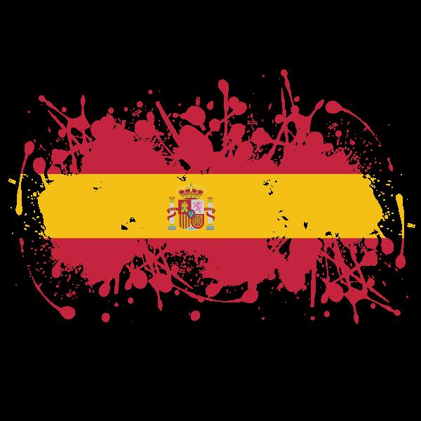 Spanish flag paint splatter