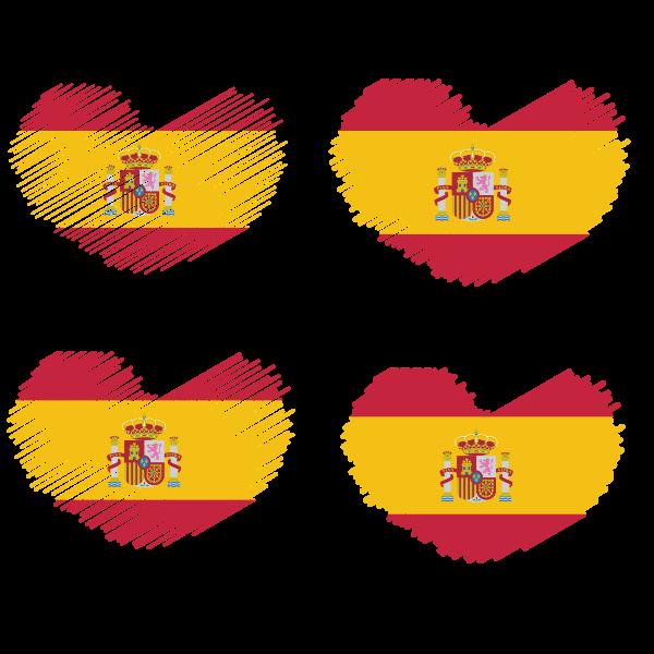 Spanish flag heart shape