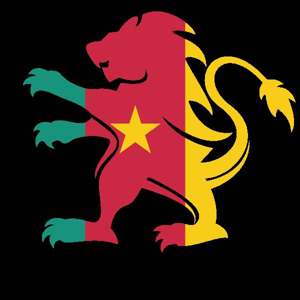 Cameroon flag heraldic lion