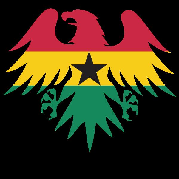 Ghana flag heraldic eagle