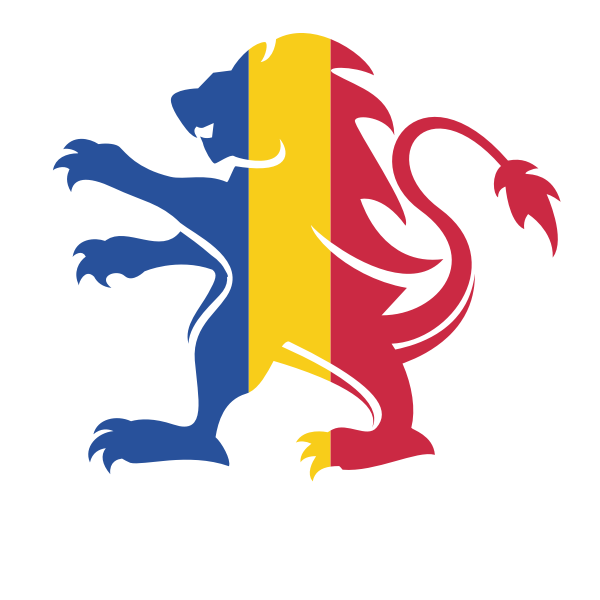 Romanian flag heraldic lion