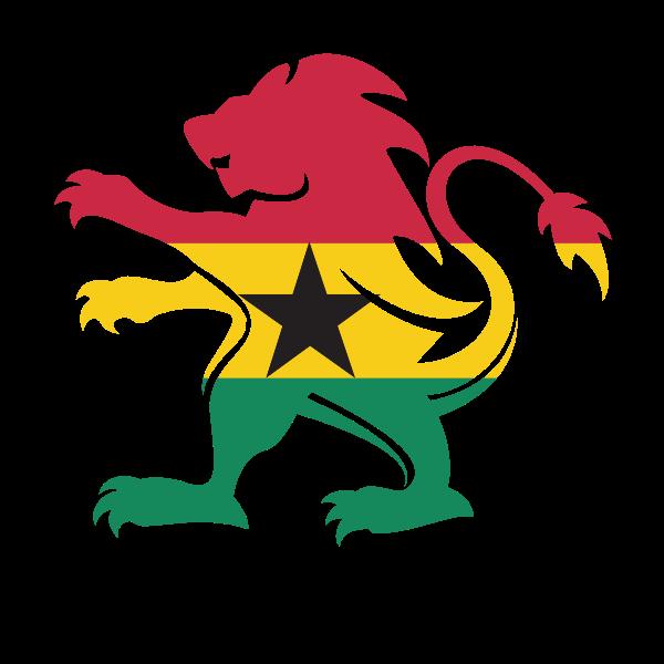Ghana flag heraldic lion