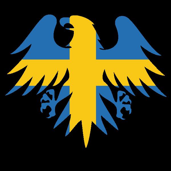 Swedish flag heraldic eagle