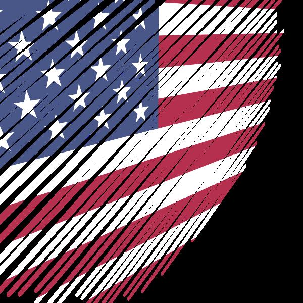 American flag scribble effect