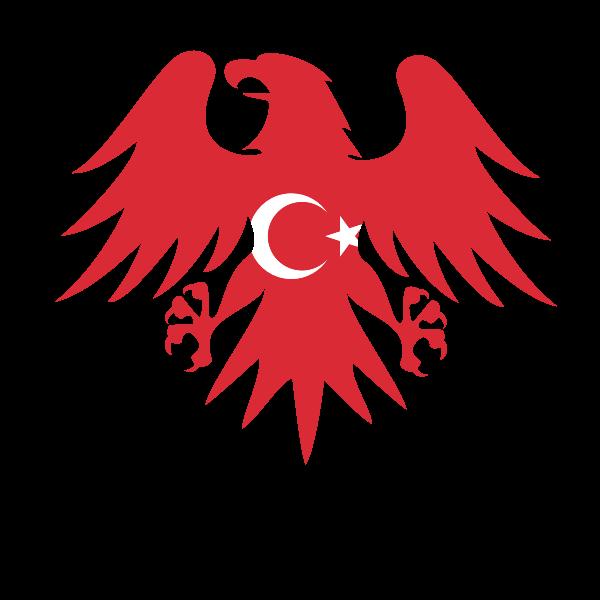Turkish flag heraldic eagle