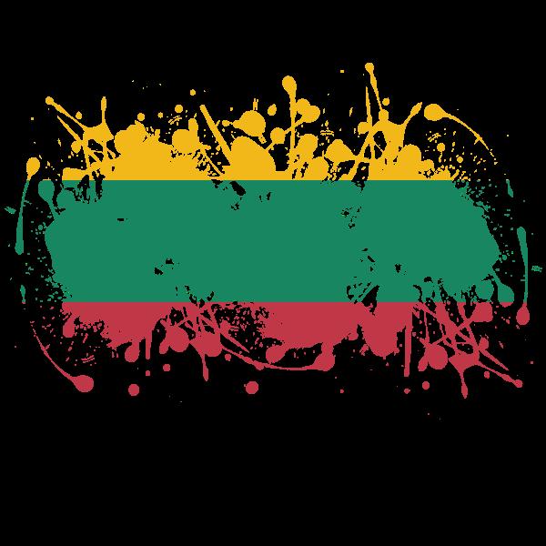 Lithuanian flag ink grunge