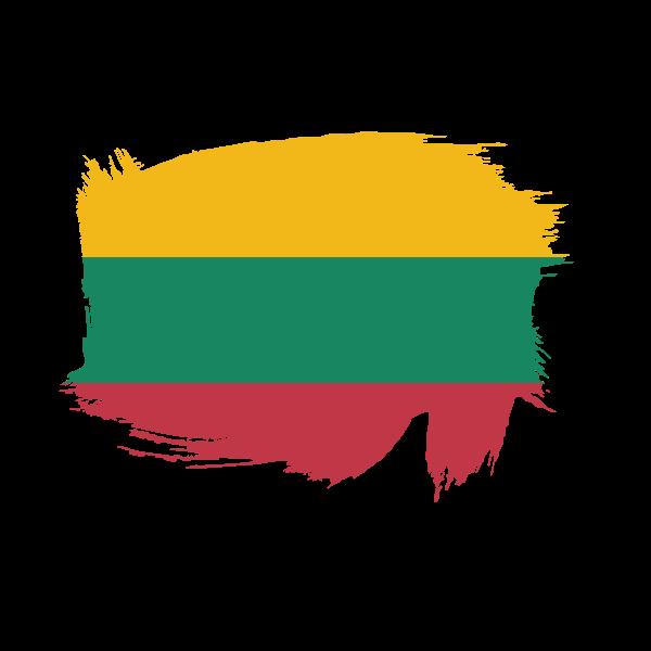 Lithuanian flag paint splatter