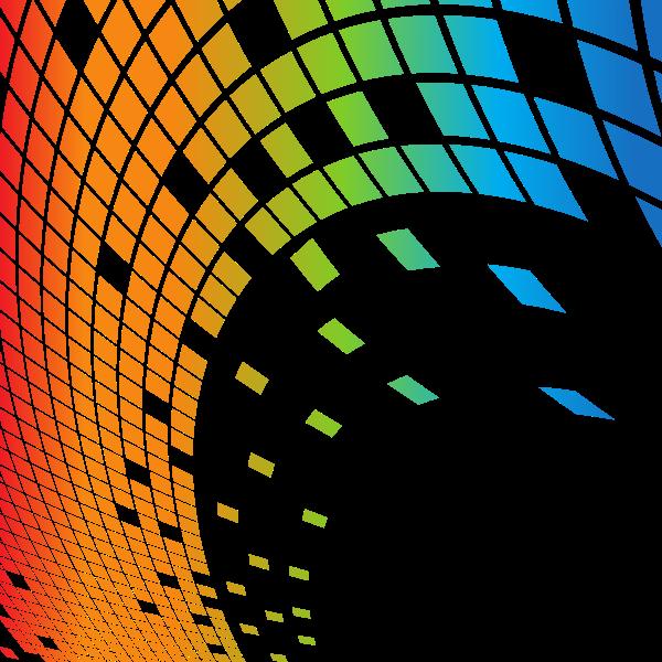 Bursting tiles white background