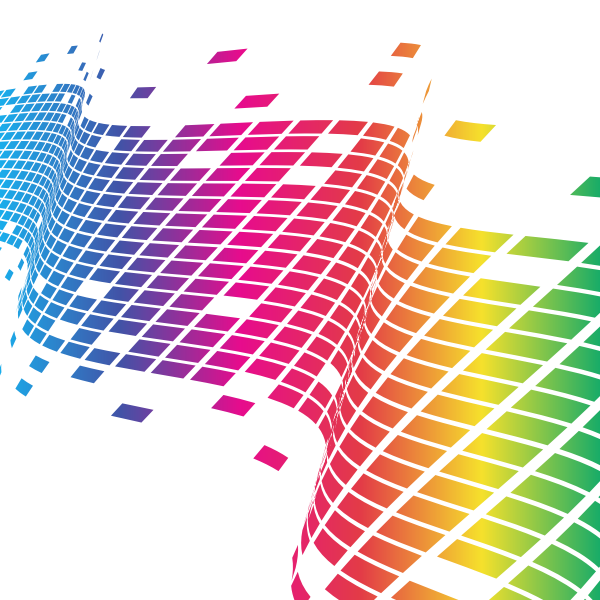 Wavy tiled pattern rainbow color
