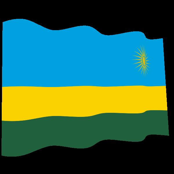Waving flag of Rwanda