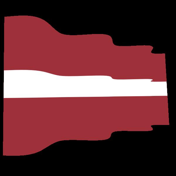 Waving flag of Latvia
