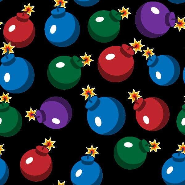 Christmas ornaments seamless pattern