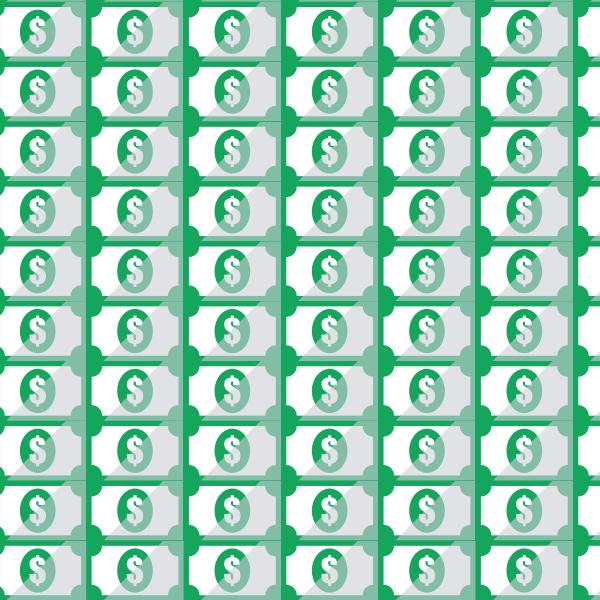 Dollar banknotes pattern
