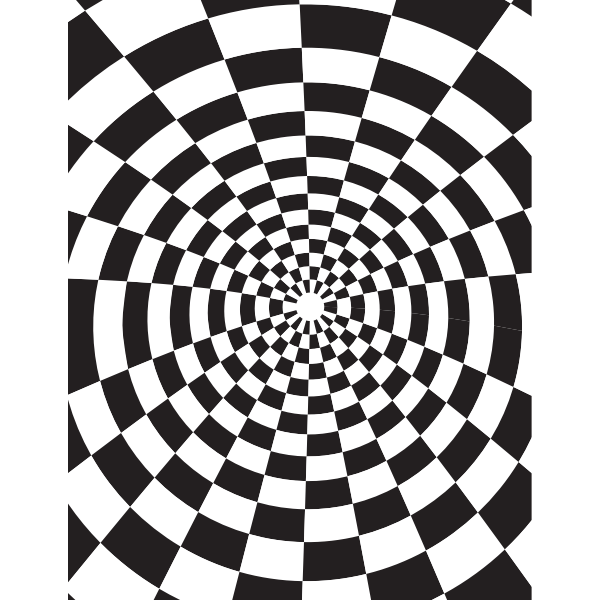 Checkered black and white pattern