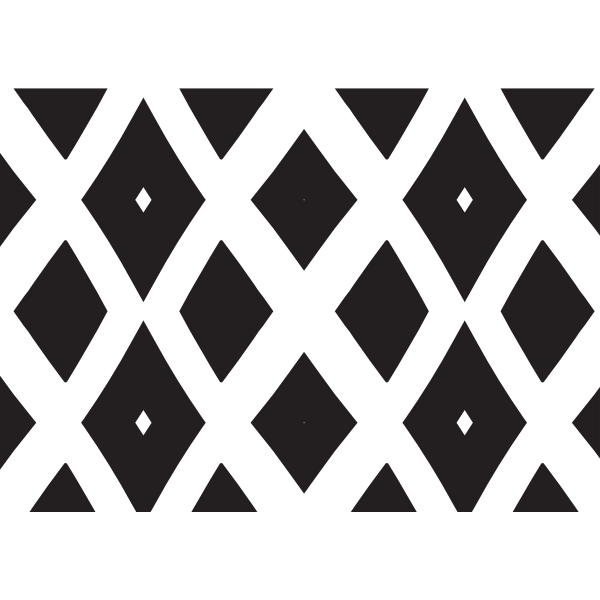 Rhomboid pattern black and white