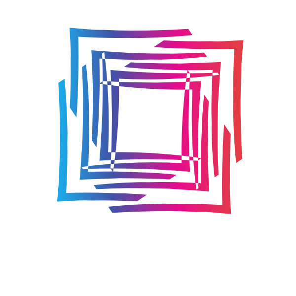 Abstract square geometric shape